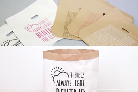 米袋をベースにした紙袋